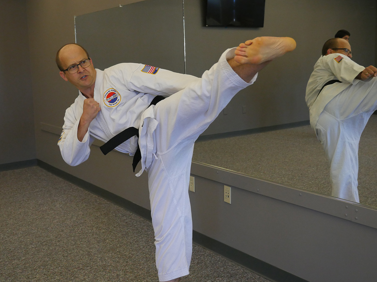 Overland Park Adult Karate Side Kick